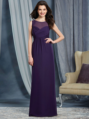 Alfred Angelo 7362L High Illusion Neckline Bridesmaid Dress