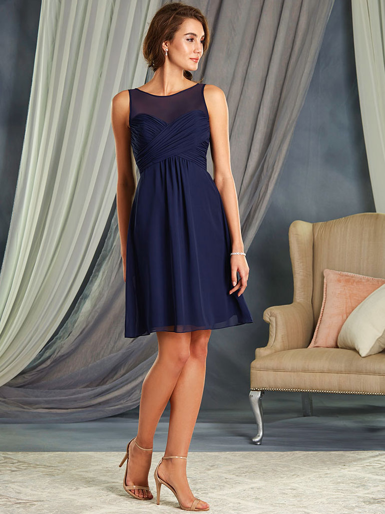 Alfred Angelo 7362S Short A-line Bridesmaid Dress|DimitraDesigns.com