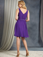 Alfred Angelo 7365L V-neck Draped Bridesmaid Dress