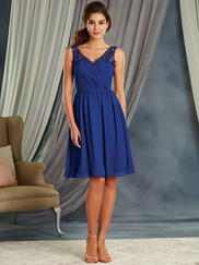 Alfred Angelo 7365S V-neck Short Bridesmaid Dress