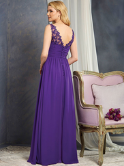 Alfred Angelo 7366S V-neck Bridesmaid Dress