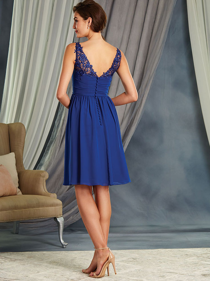 Alfred Angelo 7367L Chiffon Floor Length Bridesmaid Dress ...