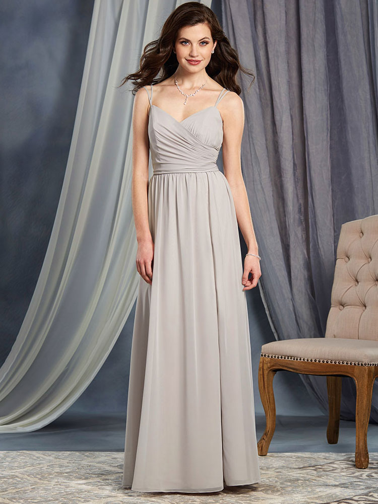 Alfred Angelo 7371L Chiffon Floor Length Bridesmaid Dress ...