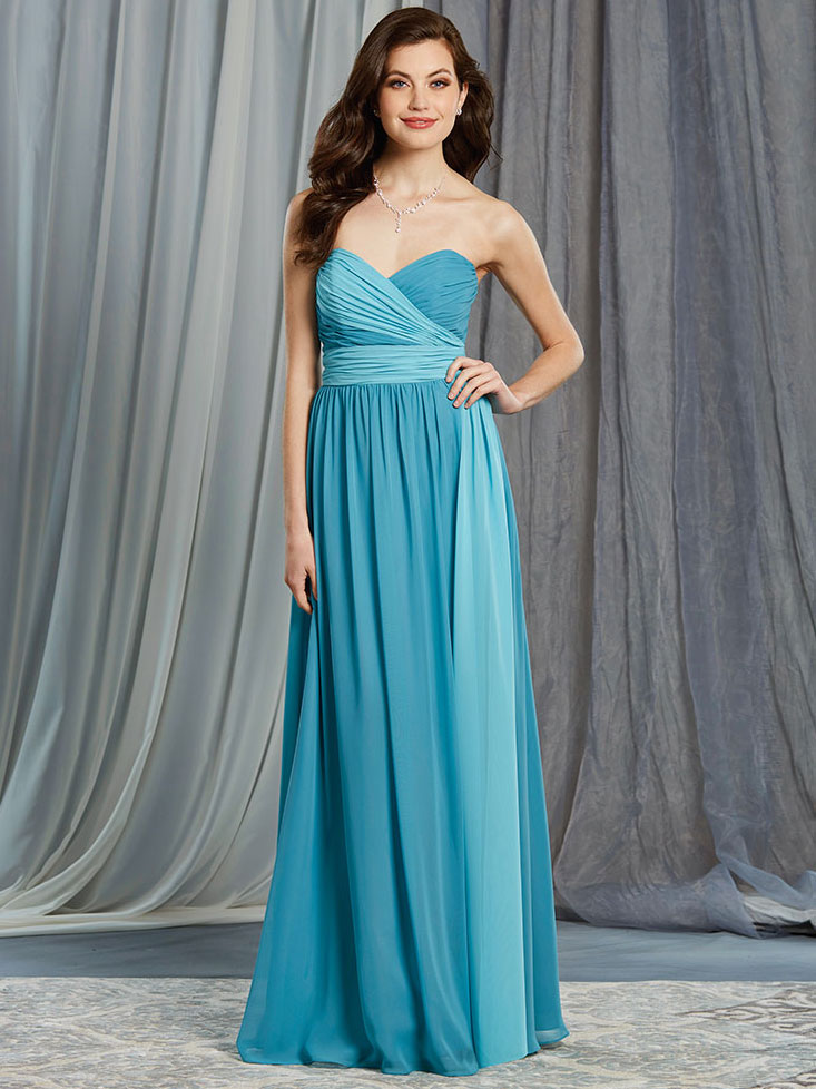 Alfred Angelo 7376L Chiffon Floor Length Bridesmaid Dress ...