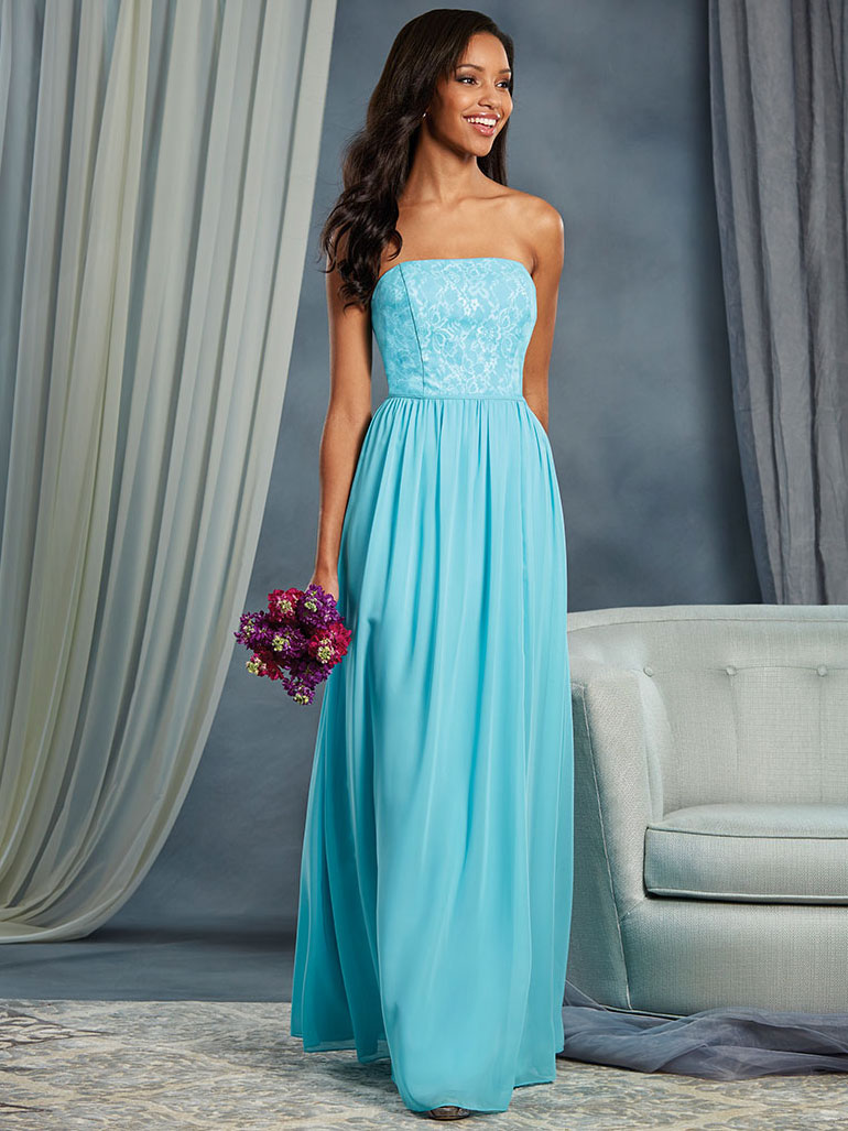 Alfred Angelo 7378L Strapless Floor Length Bridesmaid Dress ...