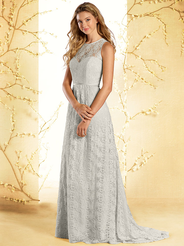 alfred angelo disney 535 lace a line bridesmaid dress. Black Bedroom Furniture Sets. Home Design Ideas