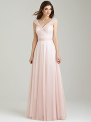 Allure 1450 V-neck Bridesmaid Dress