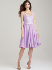 Allure 1453 Illusion Scoop Neckline Bridesmaid Dress