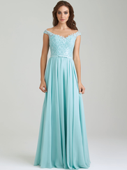 Allure 1454 Illusion Bateau Neckline Bridesmaid Dress