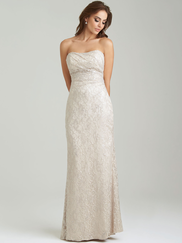 Allure 1457 Strapless Bridesmaid Dress