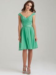 Allure 1462 V-neck Bridesmaid Dress