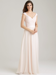 Allure 1463 V-neck Bridesmaid Dress