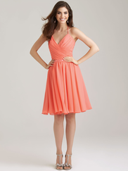 Allure 1466 V-neck Bridesmaid Dress