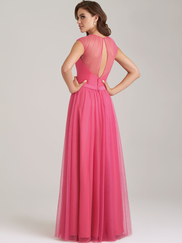 Allure 1469 Illusion High Neckline Bridesmaid Dress