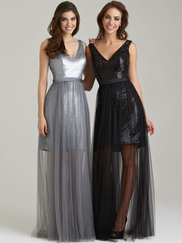 Allure 1470 V-neck Sequined Bridesmaid Dress