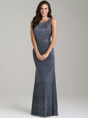 Allure 1472 High Neck Bridesmaid Dress