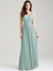 Allure 1476 V-neck Bridesmaid Dress