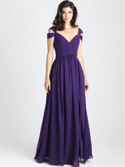 Allure 1504 V-neck Bridesmaid Dress