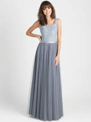 Allure 1510 Square Neckline Bridesmaid Dress