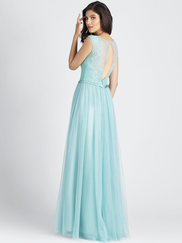 Allure 1511 Illusion Scoop Neckline Bridesmaid Dress