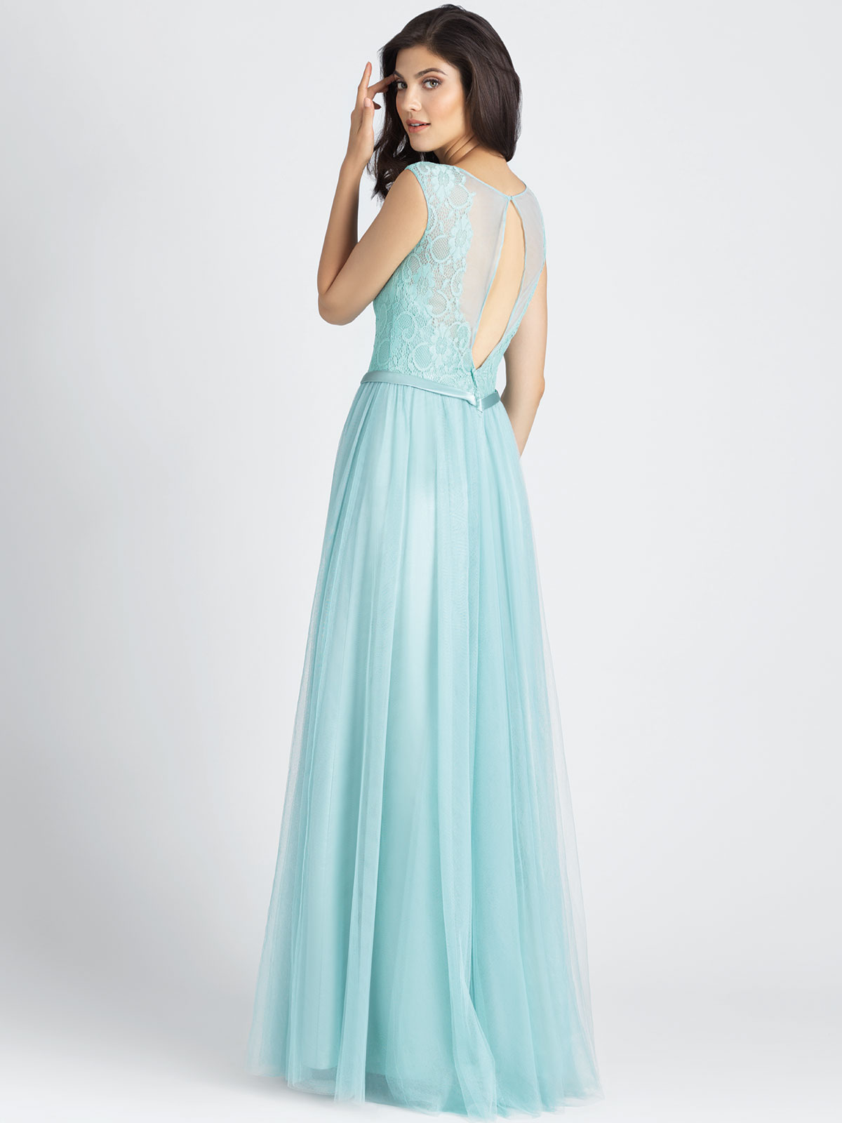 Allure 1511 tulle a line bridesmaid dressdimitradesigns tulle a line allure bridesmaid dress 1511 ombrellifo Choice Image