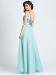 Allure 1513 V-neck Sequin Bridesmaid Dress