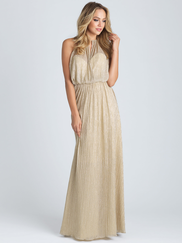 Allure 1514 High Neck Bridesmaid Dress