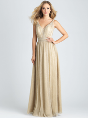 Allure 1516 V-neck Bridesmaid Dress