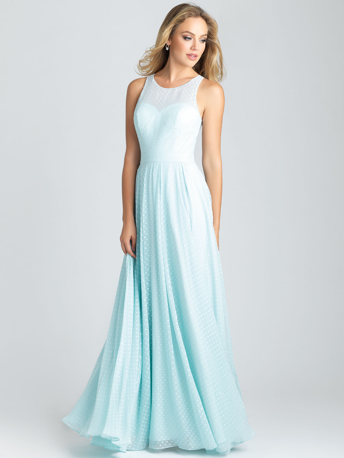 Allure 1542 Dotted Chiffon A-line Bridesmaid Dress|DimitraDesigns.com