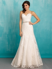 Allure 9302 Sweetheart Lace Bridal Dress