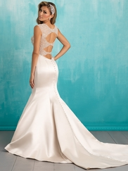 Allure 9306 V-neck Beaded Bridal Dress