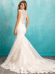 Allure 9307 V-neck Beaded Bridal Dress