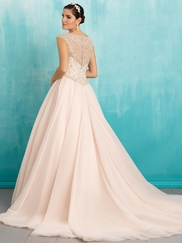 Allure 9310 Boat Neckline Beaded Bridal Dress