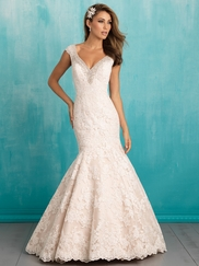 Allure 9311 V-neck Lace Bridal Dress