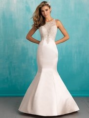Allure 9312 Illusion High Neck Bridal Dress