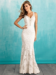 Allure 9316 V-neck Bridal Dress