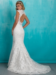Allure 9318 V-neck Lace Bridal Dress
