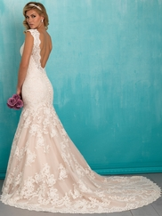 Allure 9320 V-neck Bridal Dress