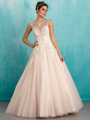 Allure 9323 High Illusion Neckline Bridal Dress