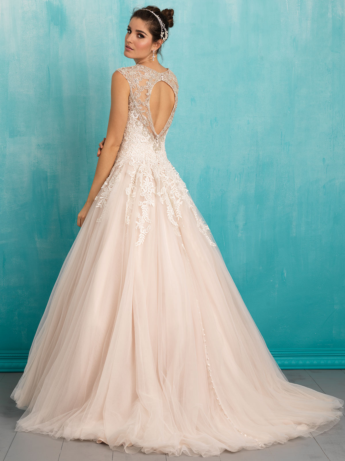 Allure 9323 English Net Ball Gown Bridal Dress|DimitraDesigns.com