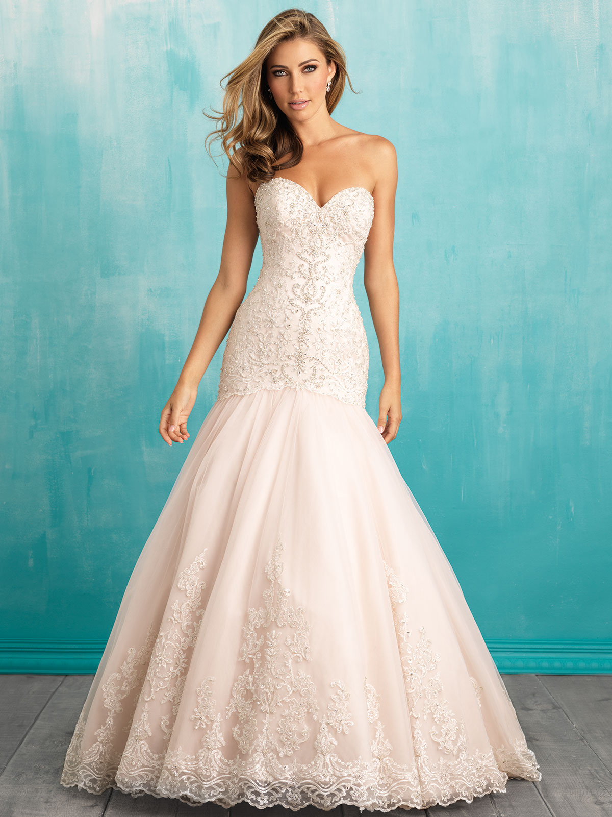 Allure Wedding Dresses Houston Tx : Allure beaded wedding dress bridals c v neck mermaid couture