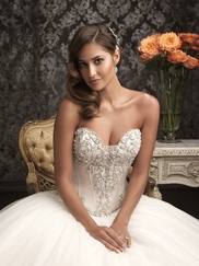 Allure Bridal Sweetheart Tulle Beaded Ball gown 9017