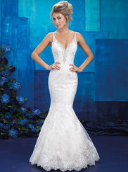 Allure Bridals 9401 V-neck Wedding Gown