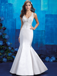 Allure Bridals 9402 V-neck Wedding Gown
