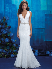 Allure Bridals 9410 V-neck Wedding Gown