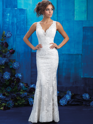 Allure Bridals 9415 V-neck Wedding Gown