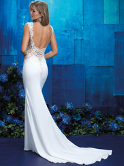Allure Bridals 9417 V-neck Wedding Gown
