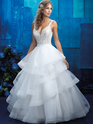 Allure Bridals 9418 V-neck Wedding Gown