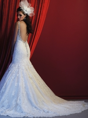 Allure Bridals Couture C361 V-neck Beaded Wedding Dress