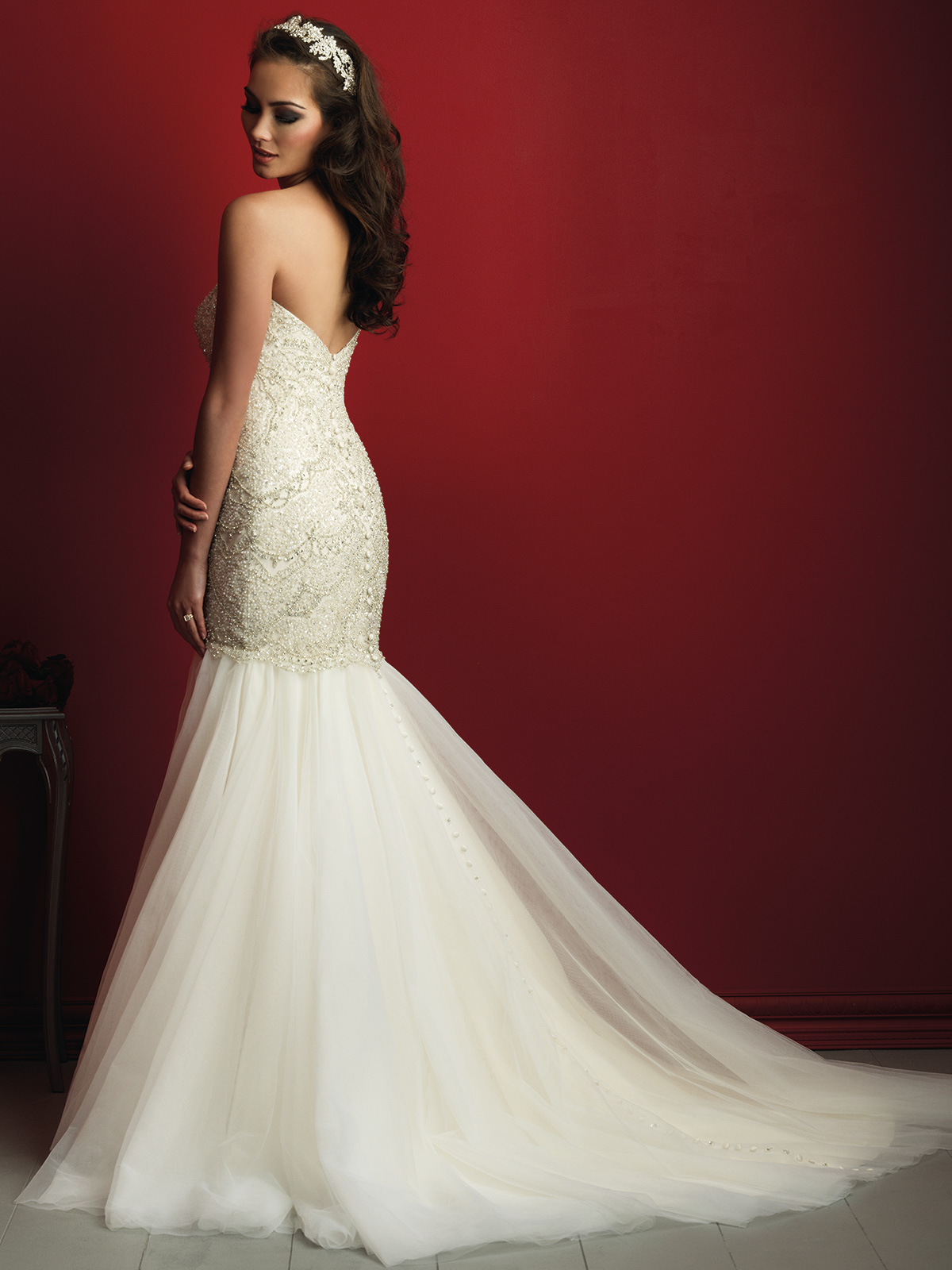 Allure Bridals C362 Sweetheart Beaded Fit And Flare Couture Dress ...